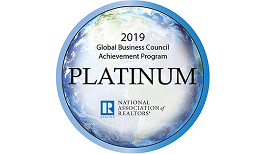 2019 NAR Global Platinum Award Featured Image